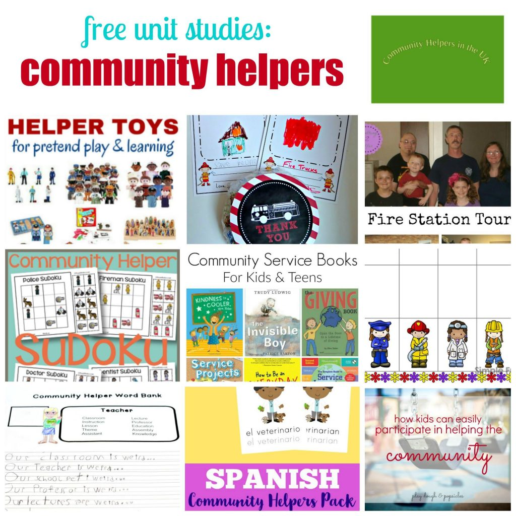 Free Unit Study: Community Helpers