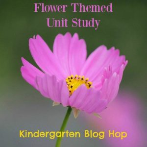 Flower Themed Unit Study - Kindergarten Blog Hop