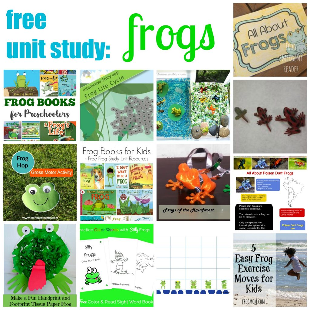 Free Unit Study: Frogs