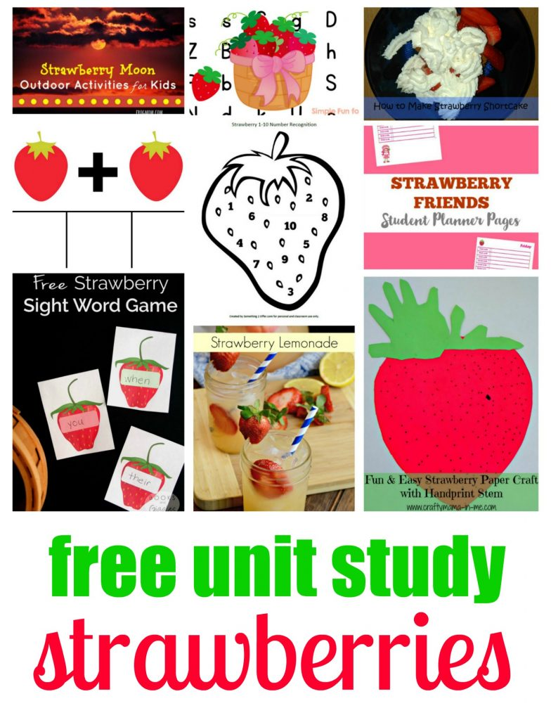 Free Unit Study - Strawberries