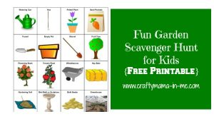 Fun Garden Center Scavenger Hunt for Kids {Free Printable}