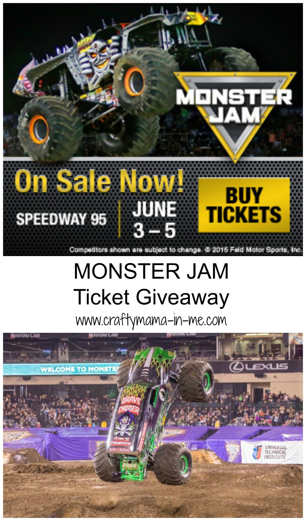 Monster Jam es to Bangor ME Ticket Giveaway Crafty Mama in ME