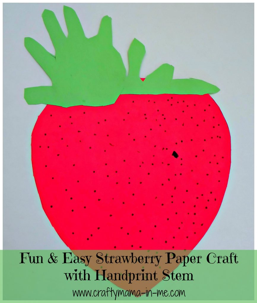 Fun & Easy Strawberry Paper Craft with Handprint Stem