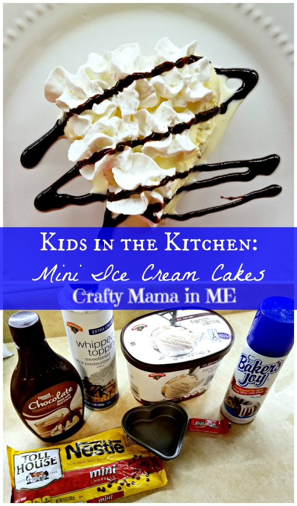 Kids in the Kitchen: Mini Ice Cream Cakes