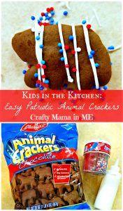 Kids in the Kitchen: Easy Patriotic Animal Crackers