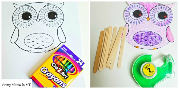 Fun Forest Animal Craft Stick Puppets