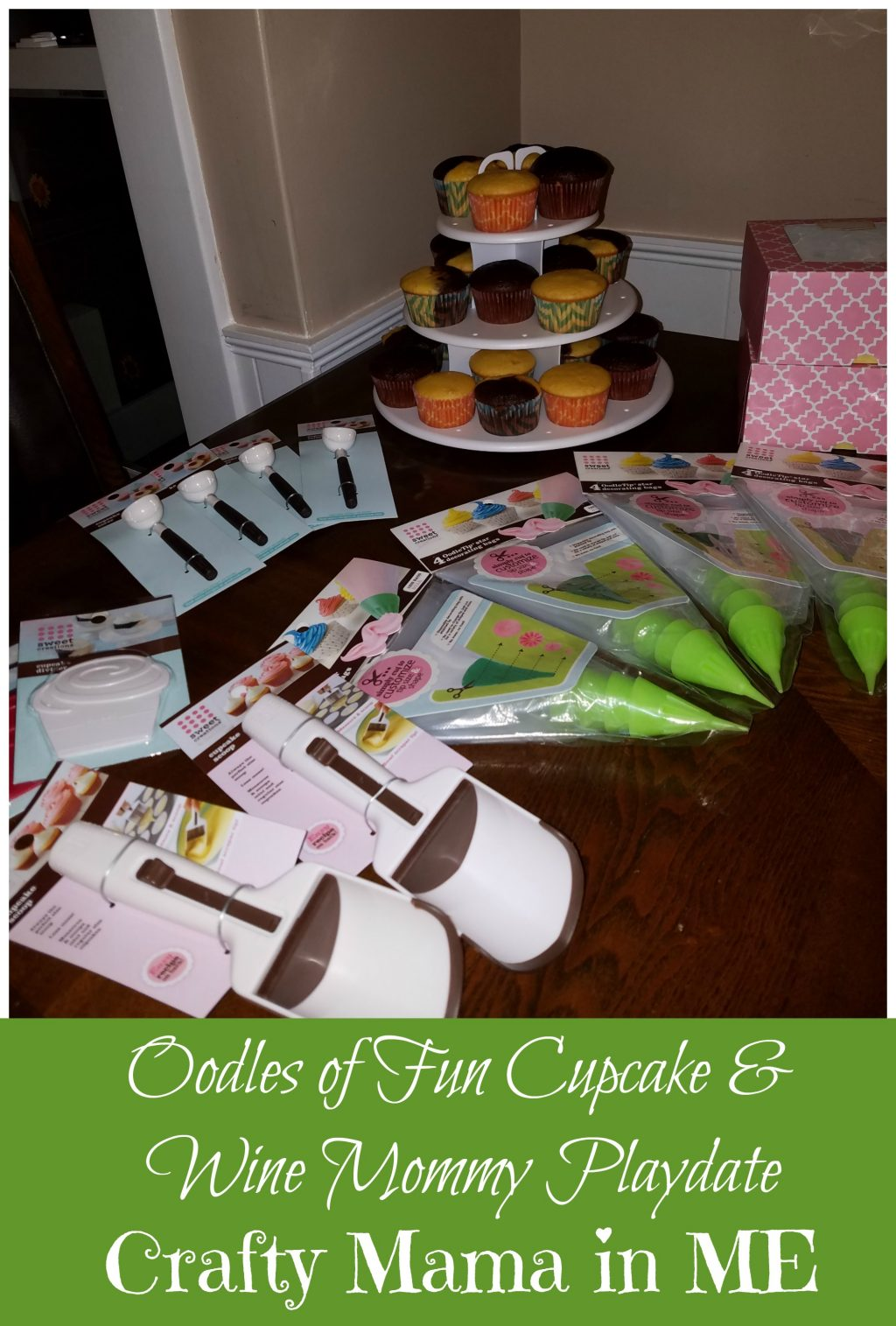 Oodles of Fun Cupcake & Wine Mommy Playdate