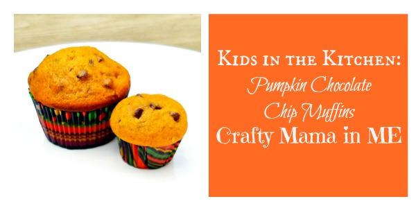 Kids in the Kitchen: Pumpkin Chocolate Chip Muffins