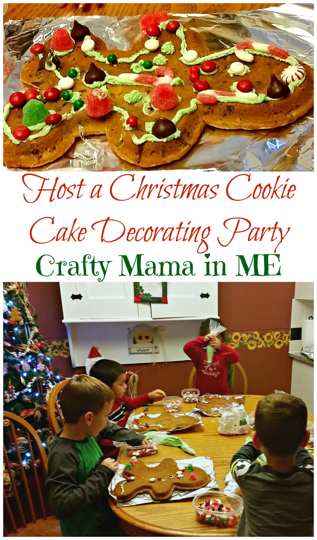 How to Host a Christmas Cookie Cake Decorating Party