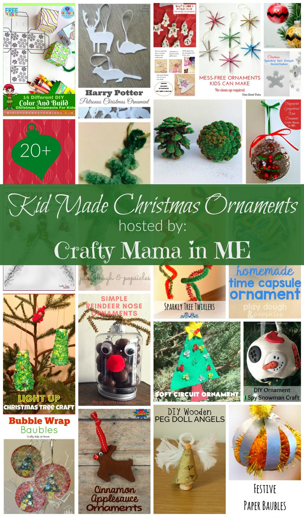 kid made christmas ornaments blog hop