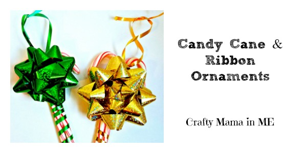 Festive Kid Made Candy Cane & Ribbon Ornaments