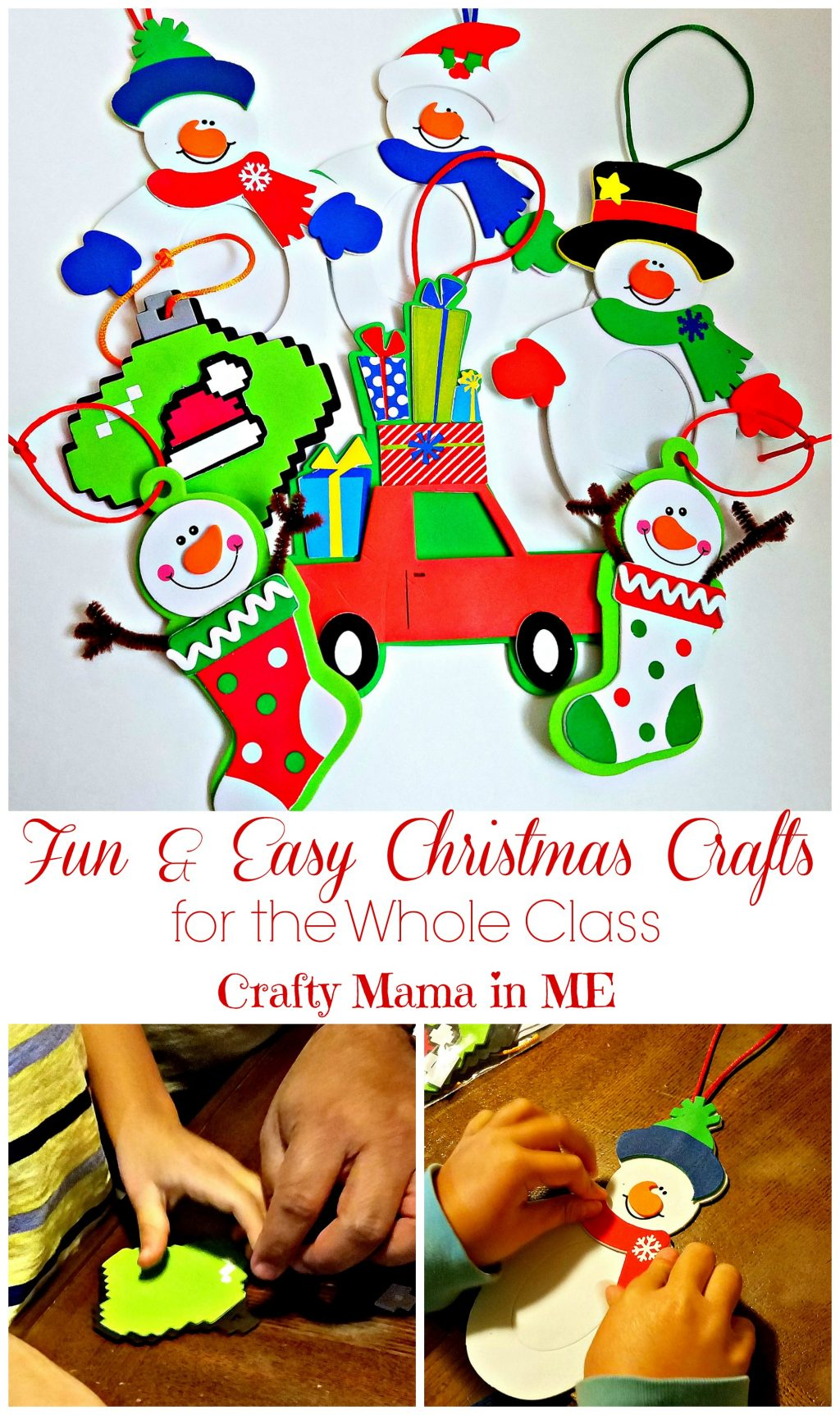 fun christmas crafts amp easy crafts for the whole class crafty 2060