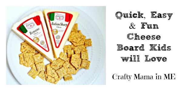 Quick, Easy & Fun Cheese Platter Kids will Love