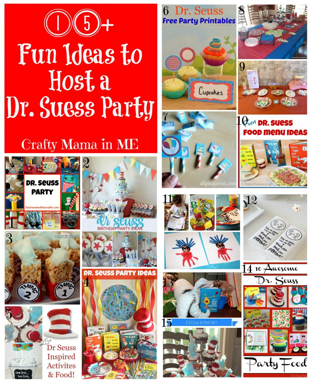 Fun Roundup of Ideas to Host a Dr. Suess Party