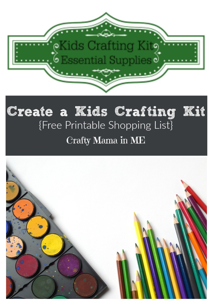 How to Create a Kids Crafting Kit {Free Printable Shopping List}