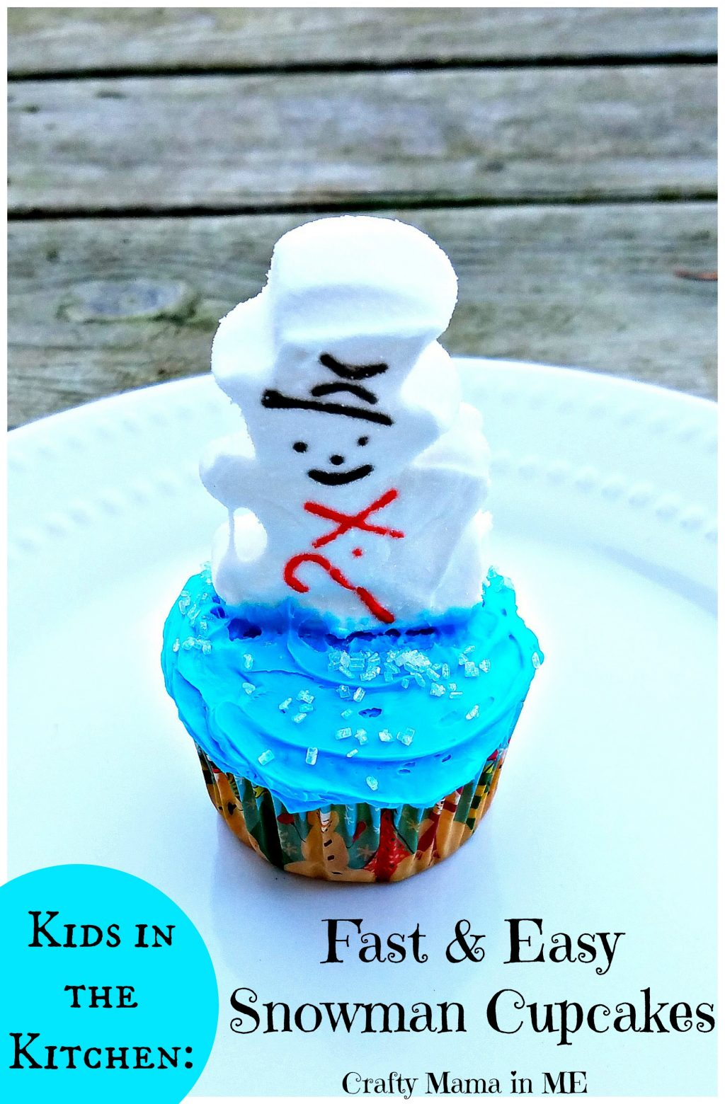 Kids in the Kitchen: Fast & Easy Snowman Cupcakes
