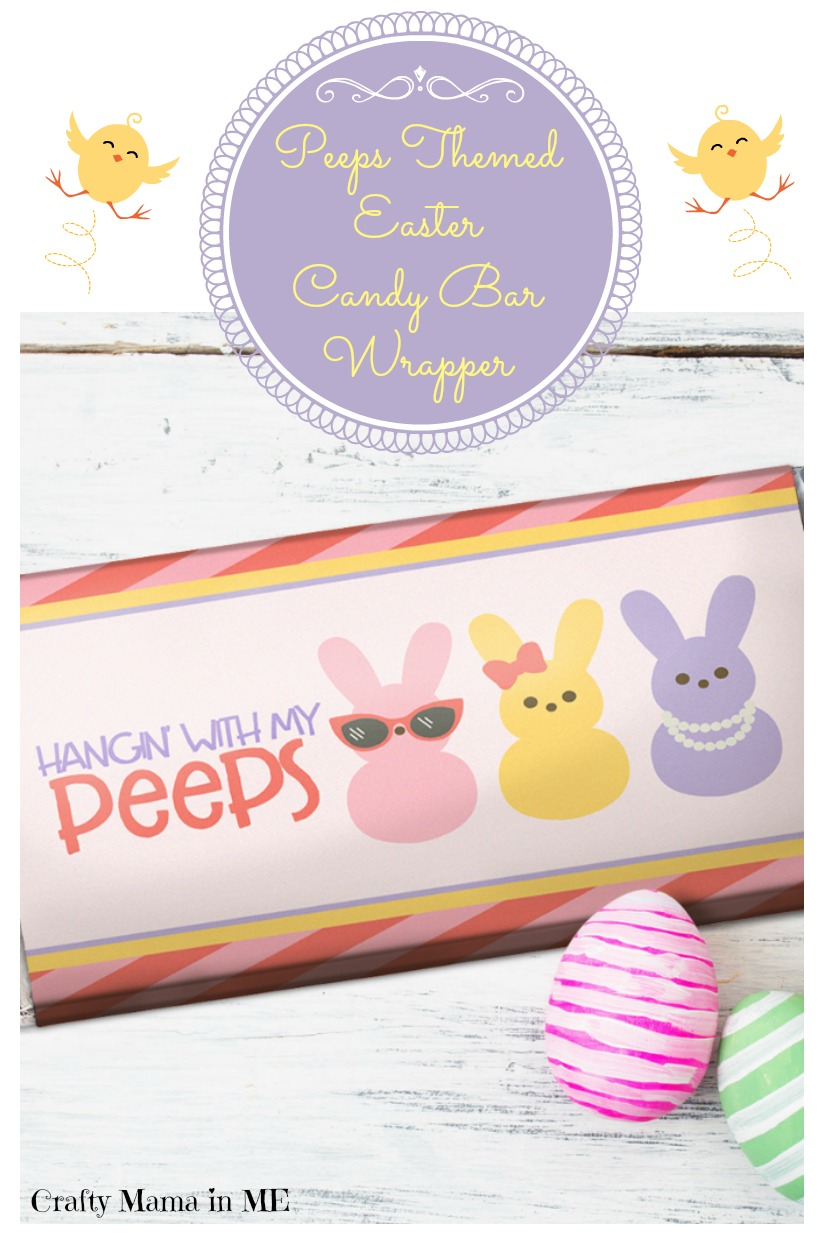 Peeps Themed Easter Candy Bar Wrapper {Free Printable}