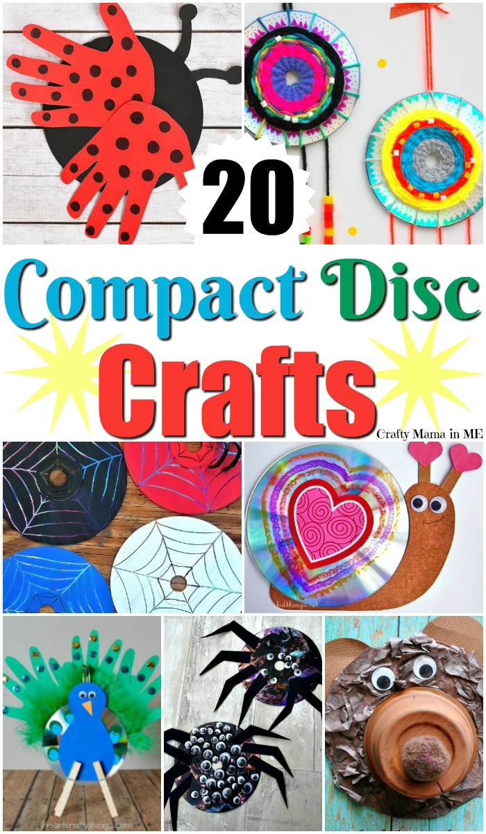 20 Unique Compact Disc Crafts For Kids Crafty Mama In Me