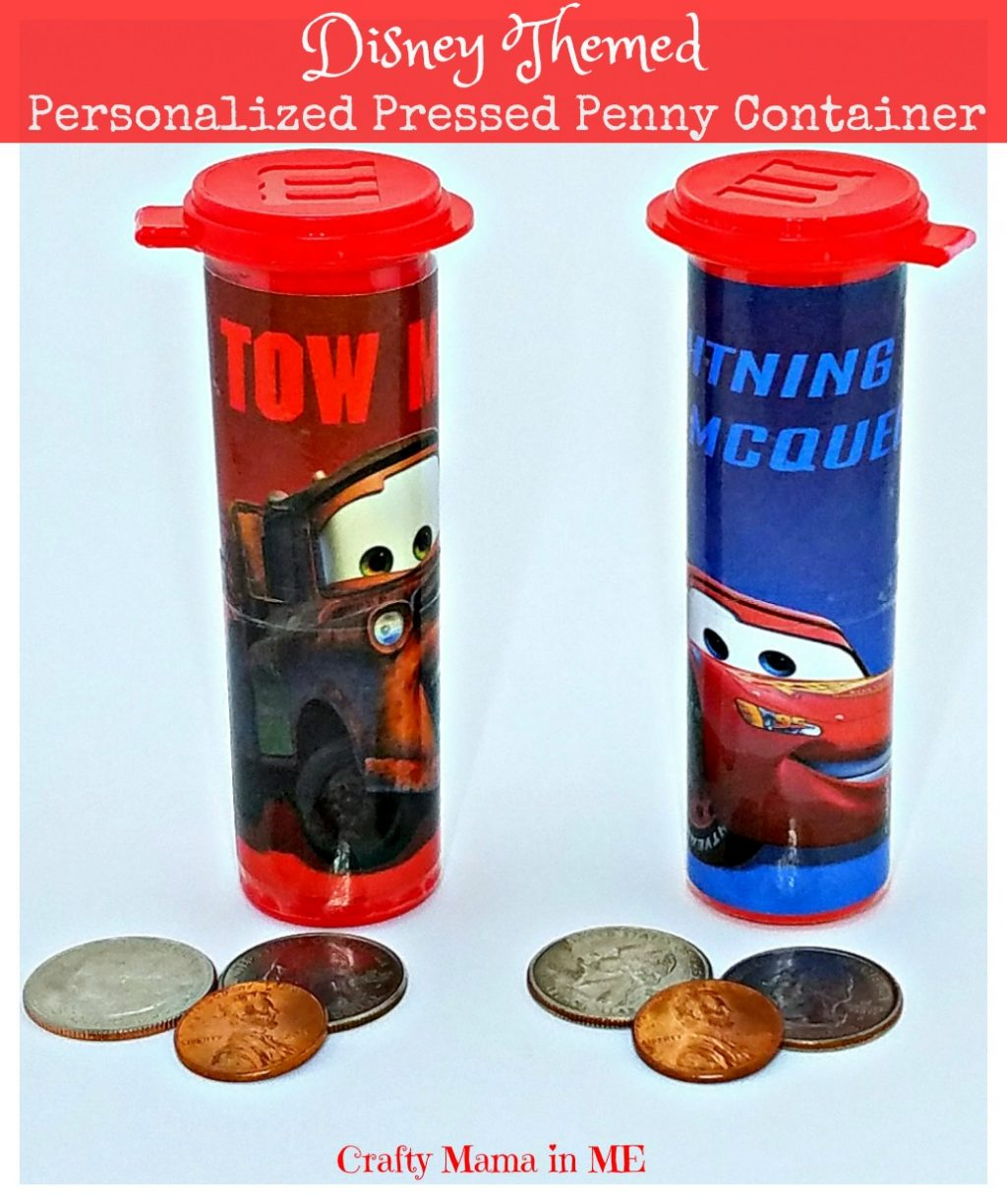 How to Make a Personalized Disney Themed Pressed Penny Container