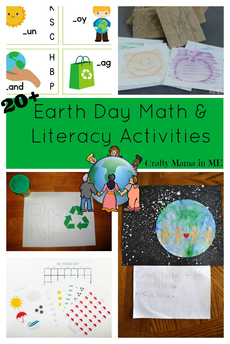 Earth Day Math and Literacy Activities for Kids {Free Printables}