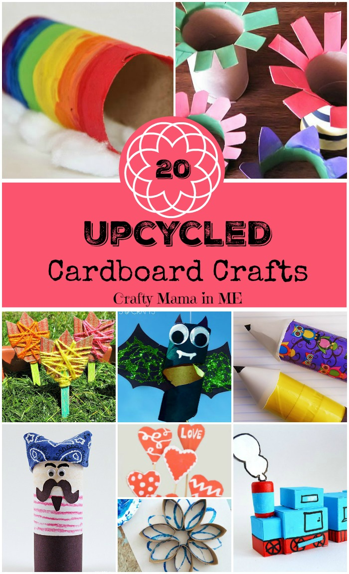 20 Upcycled Cardboard Crafts for Kids