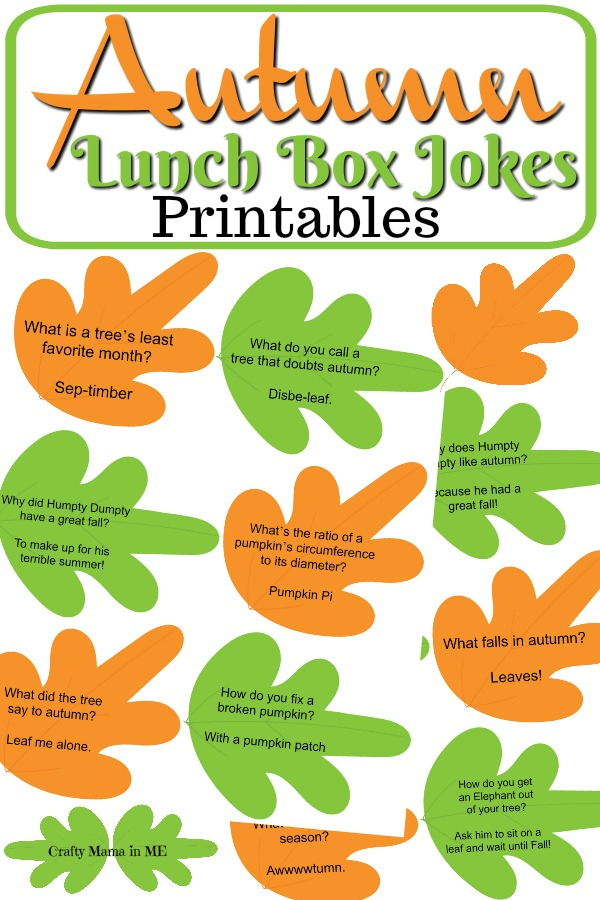 Autumn Lunch Box Jokes for Kids