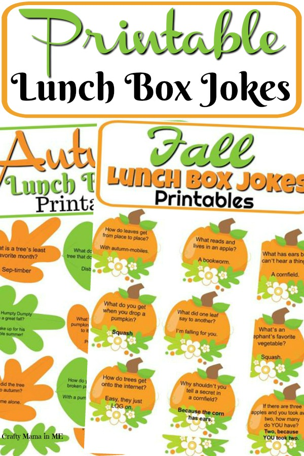 Free Printable Fall & Autumn Lunch Box Jokes