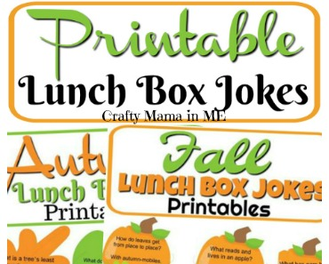 photo about Printable Lunchbox Jokes called Free of charge Printable Drop Autumn Lunch Box Jokes - Cunning Mama