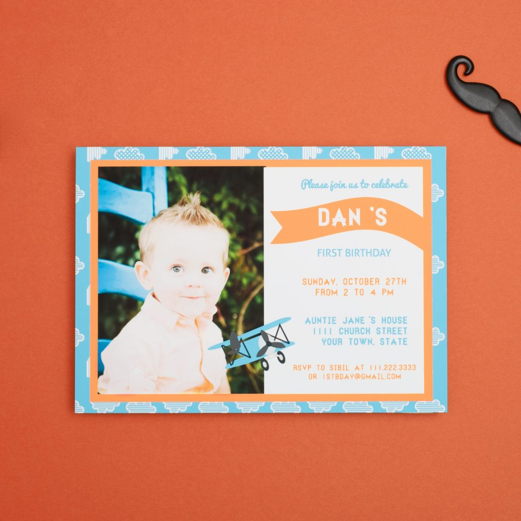 First Birthday Celebrations with Basic Invite