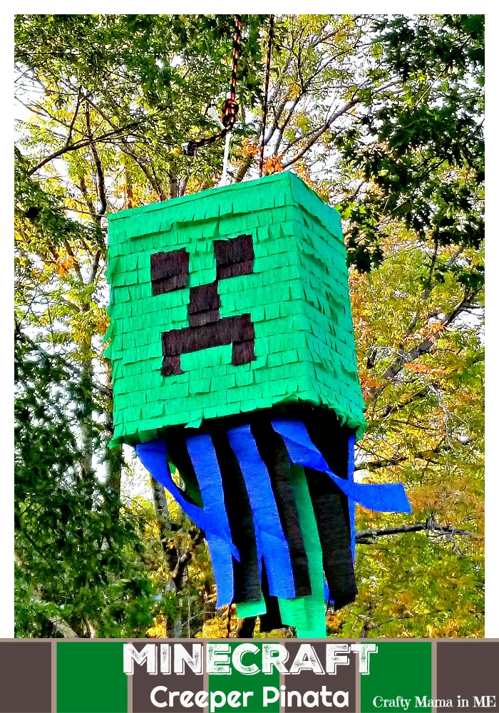 How to Make a DIY Minecraft Creeper Piñata