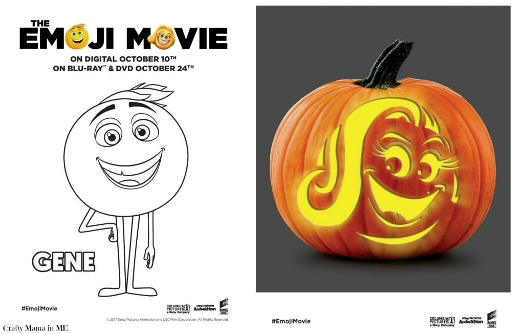 FREE Emoji Movie Pumpkin Carving Templates #emojimovie