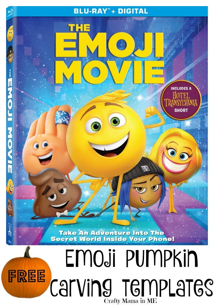 FREE Emoji Movie Pumpkin Carving Templates #emojimovie