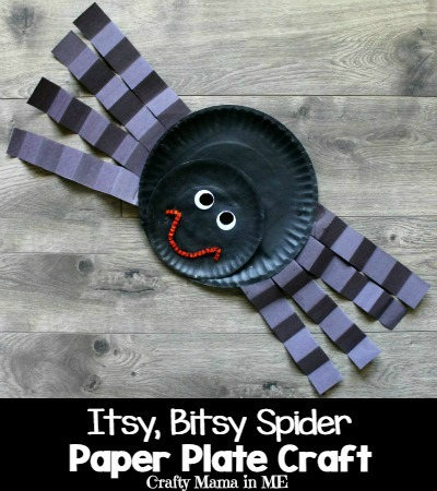 Itsy Bitsy Spider Paper Plate Craft for Kids. Fun and Easy Halloween Kids Craft