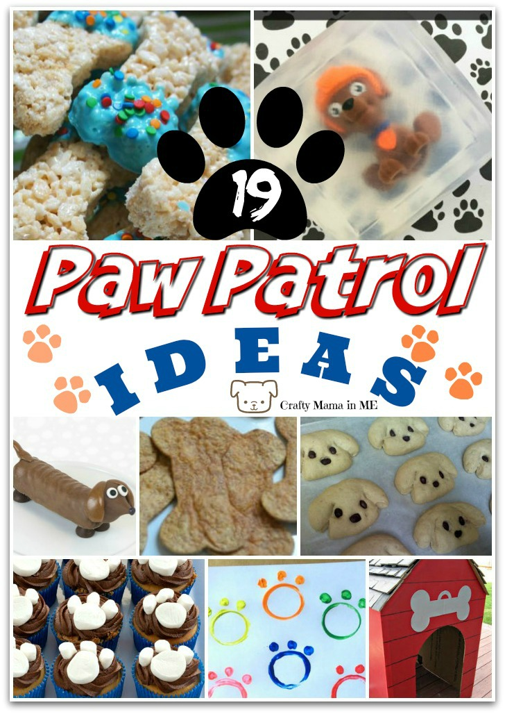 Paw Patrol Inspired Ideas for Kids. Great Ideas for Kids Birthday Parties and Fun Crafts and Activities around the house!
