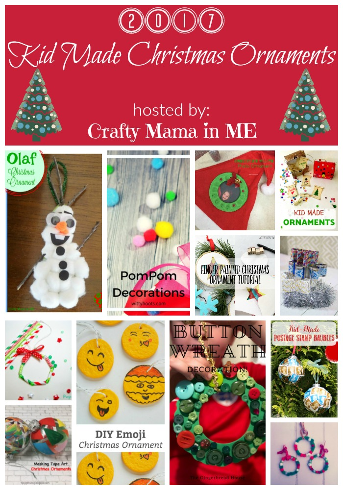 Kid Made Christmas Ornaments Blog Hop 2017