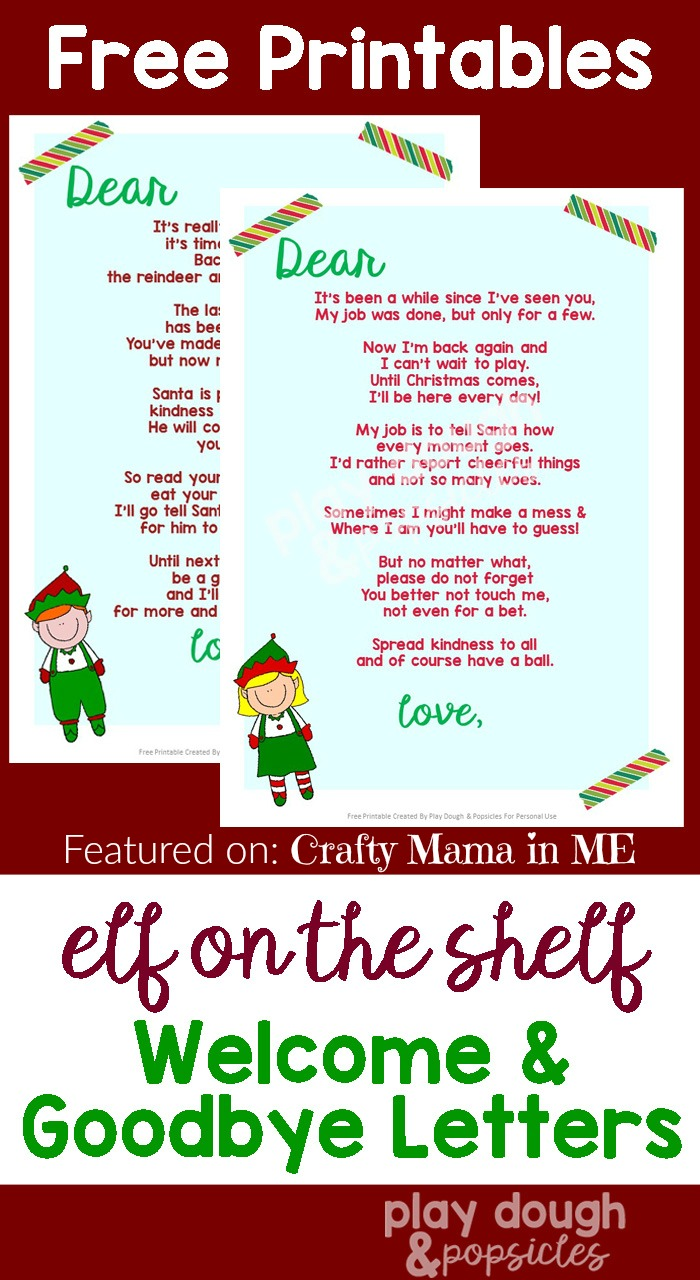 picture regarding Printable Elf on the Shelf Goodbye Letter identify Elf upon the Shelf Letters Totally free Printables - Cunning Mama within just ME!