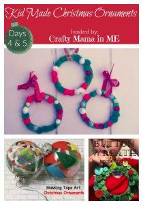 Days 4 & 5- Kid Made Christmas Ornaments