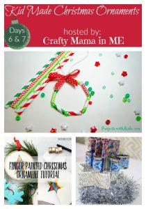 Days 6 & 7- Kid Made Christmas Ornaments