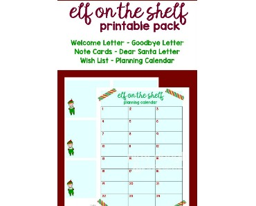 photograph regarding Elf on the Shelf Goodbye Letter Free Printable named Elf upon the Shelf Free of charge Printable Pack - Cunning Mama inside of ME!
