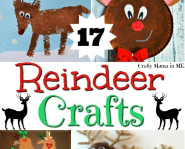 Cute Reindeer Kids Crafts for Christmas