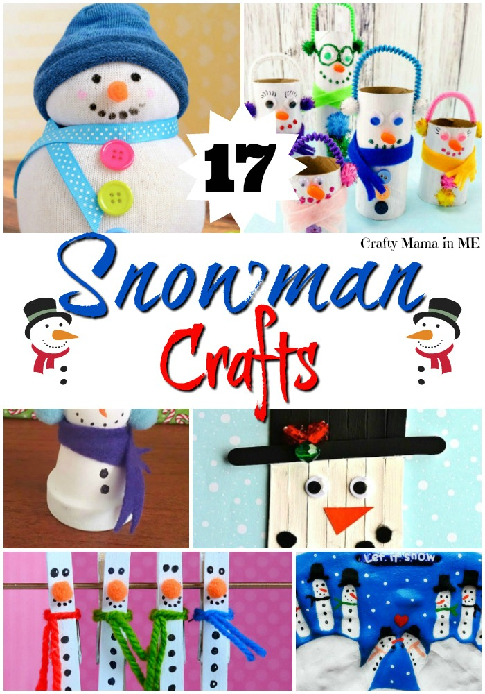 Cute and Simple Snowman Kids Crafts