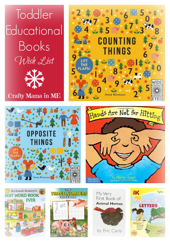 Toddler Educational Books Christmas Wish List + Giveaway
