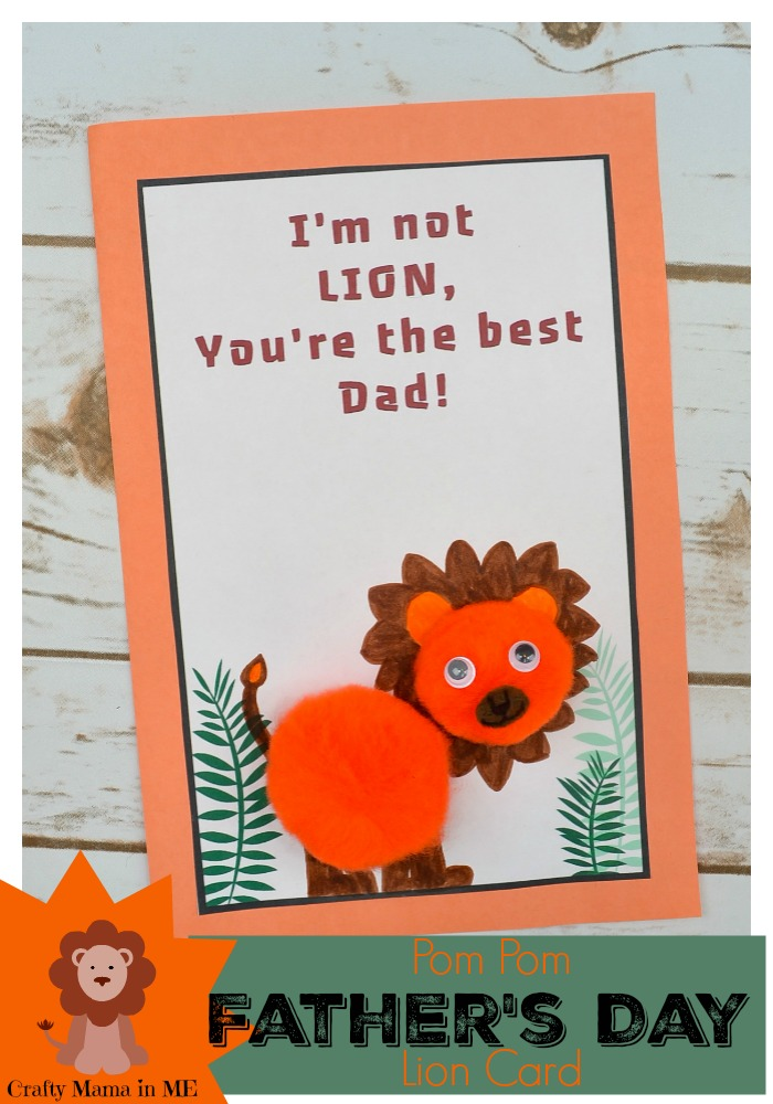Pom Pom Father's Day Lion Card
